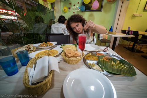 Mâncare indiană în Singapore