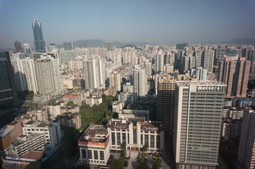 Guangzhou: clădiri business și locuințe