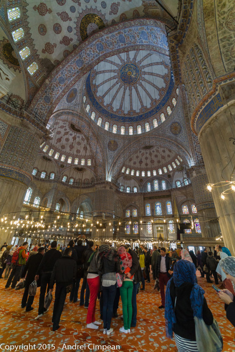 interiorul moscheei