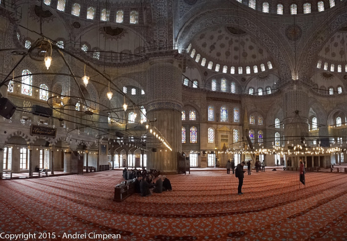 interior Moscheea Albastră