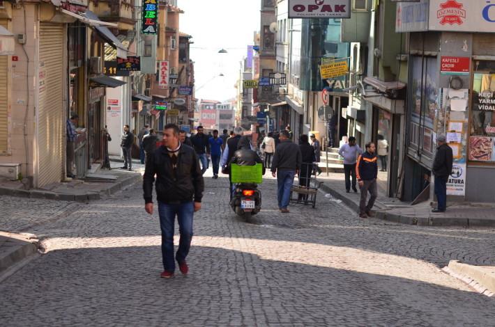 Strada Gedik Pașa, care duce la hotel