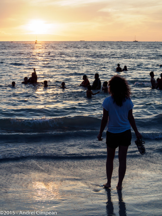 plaja Cenang, Langkawi la apus
