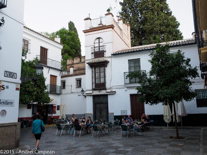 Terasa barului Aqua y Vida, Calle Vida, Sevilla