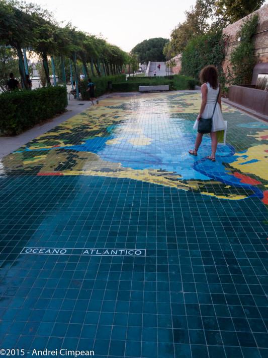 pe malul fluviului: realizate din gresie, traseul și Delta Guadalquivir
