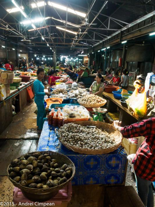 piața de pește din Siem Reap