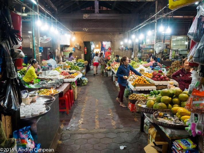 piață de fructe în Siem Reap