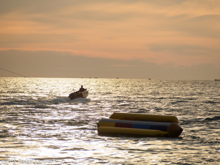 plaja Cenang, Langkawi, la apus