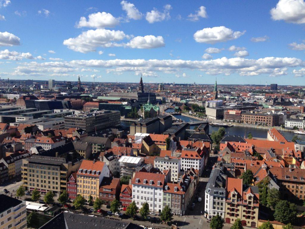 Copenhaga, văzută din Church of Our Saviour
